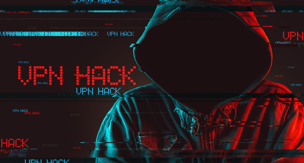 Man in hoodie with the words VPN Hack behind him. Showing the VPN vulnerability that shows the need for Zero Trust Network Access.